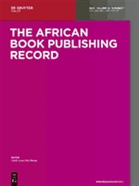 African Book Publishing Record (UK) 1/1900